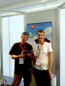 With Giovanni Burresi of UDOO Team (who produce the SBC used in Geduino) at Maker Faire Rome 2015